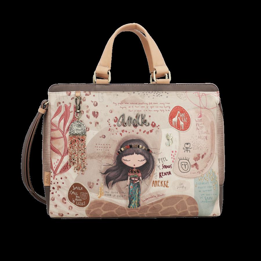 Braune Multi Tasche *Kenya Collection*-2