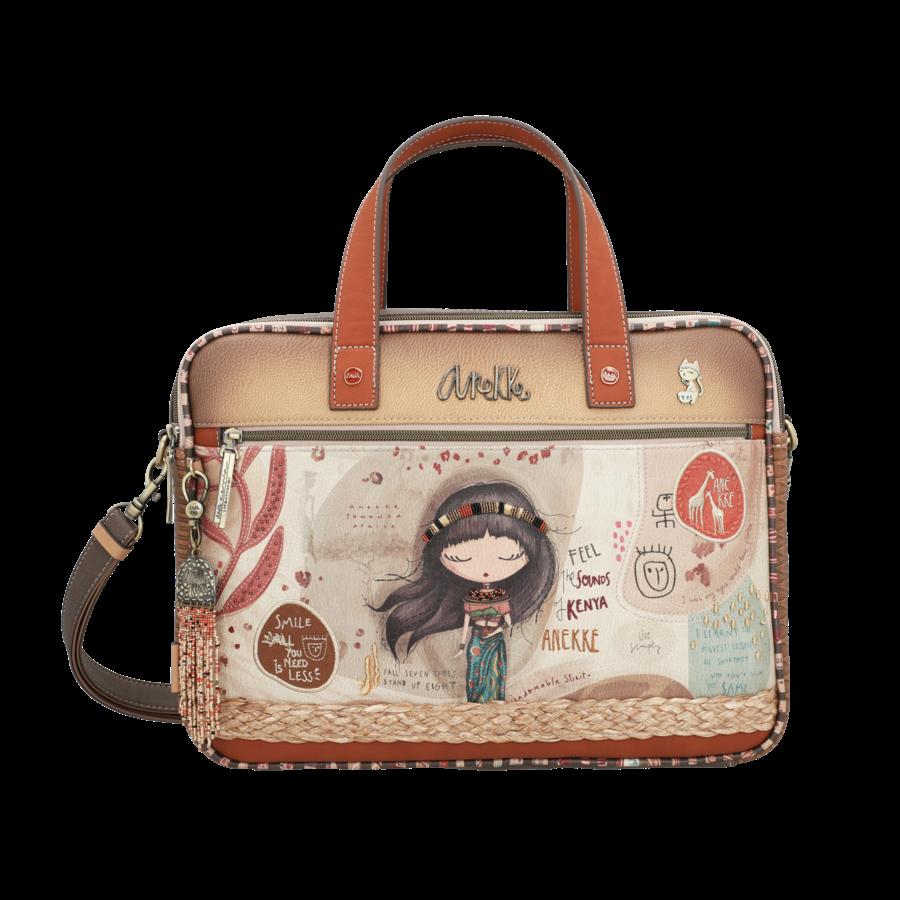 Braune Multi Tasche *Kenya Collection*-1