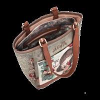 thumb-Braun/Grüner Shopper *Ixchel Collection*-3