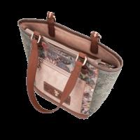 thumb-Braun/Grüner Shopper *Ixchel Collection*-6