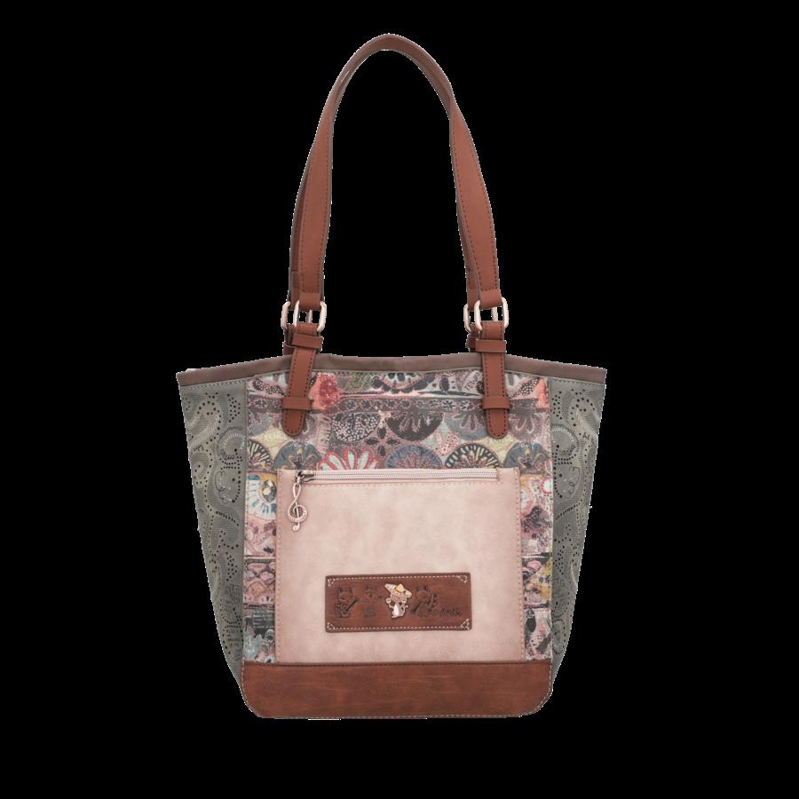 Braun/Grüner Shopper *Ixchel Collection*-5