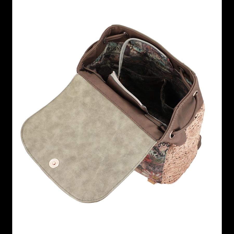 Braun/Grüner Rucksack *Ixchel Collection*-7