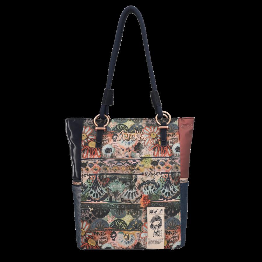 Blau/Beige Shopper *Ixchel Collection*-5
