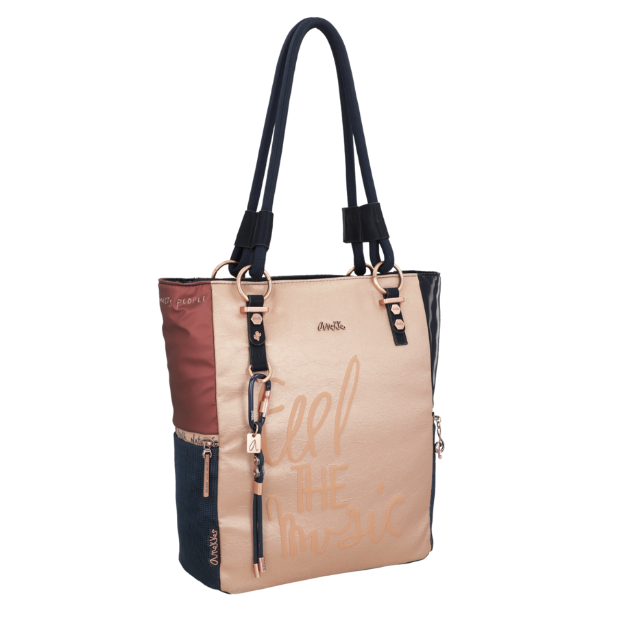 Blau/Beige Shopper *Ixchel Collection*-2