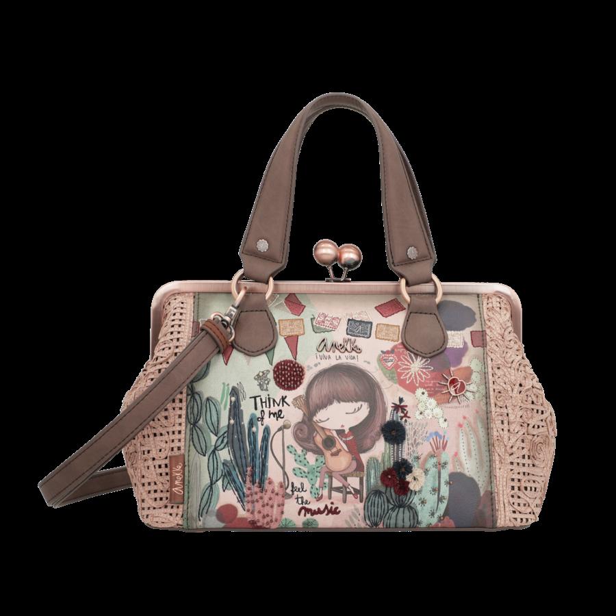 Beige/Rosé Handtasche *Ixchel Collection*-1