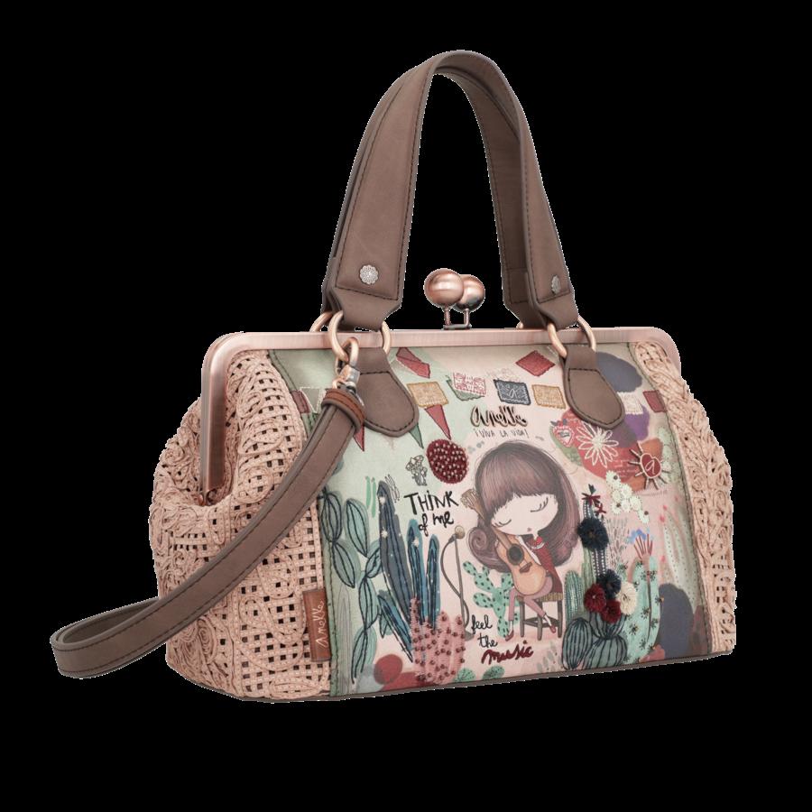 Beige/Rosé Handtasche *Ixchel Collection*-2