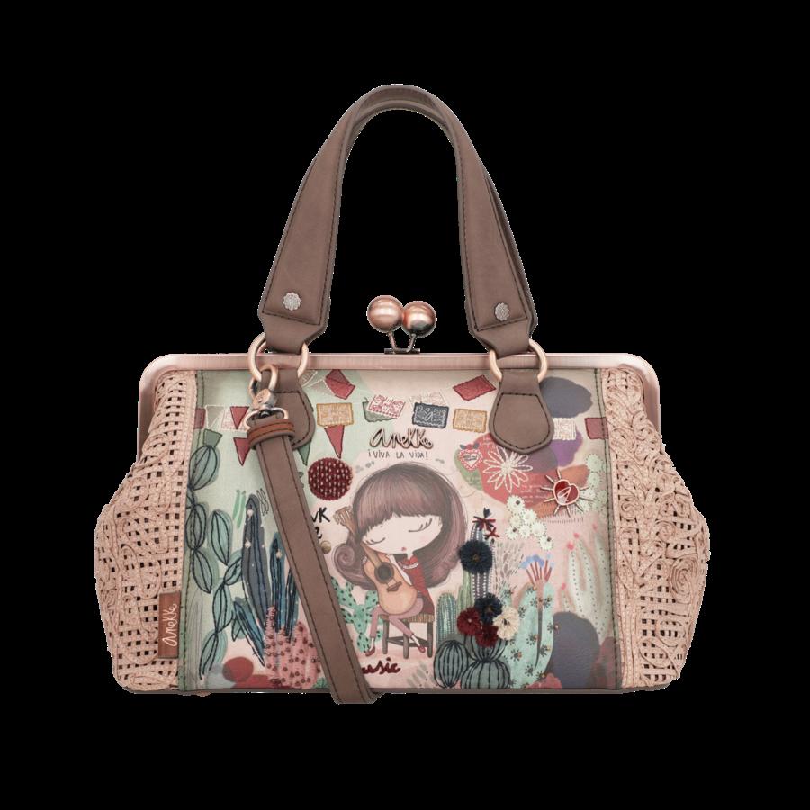 Beige/Rosé Handtasche *Ixchel Collection*-3