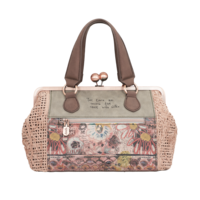 thumb-Beige/Rosé Handtasche *Ixchel Collection*-6