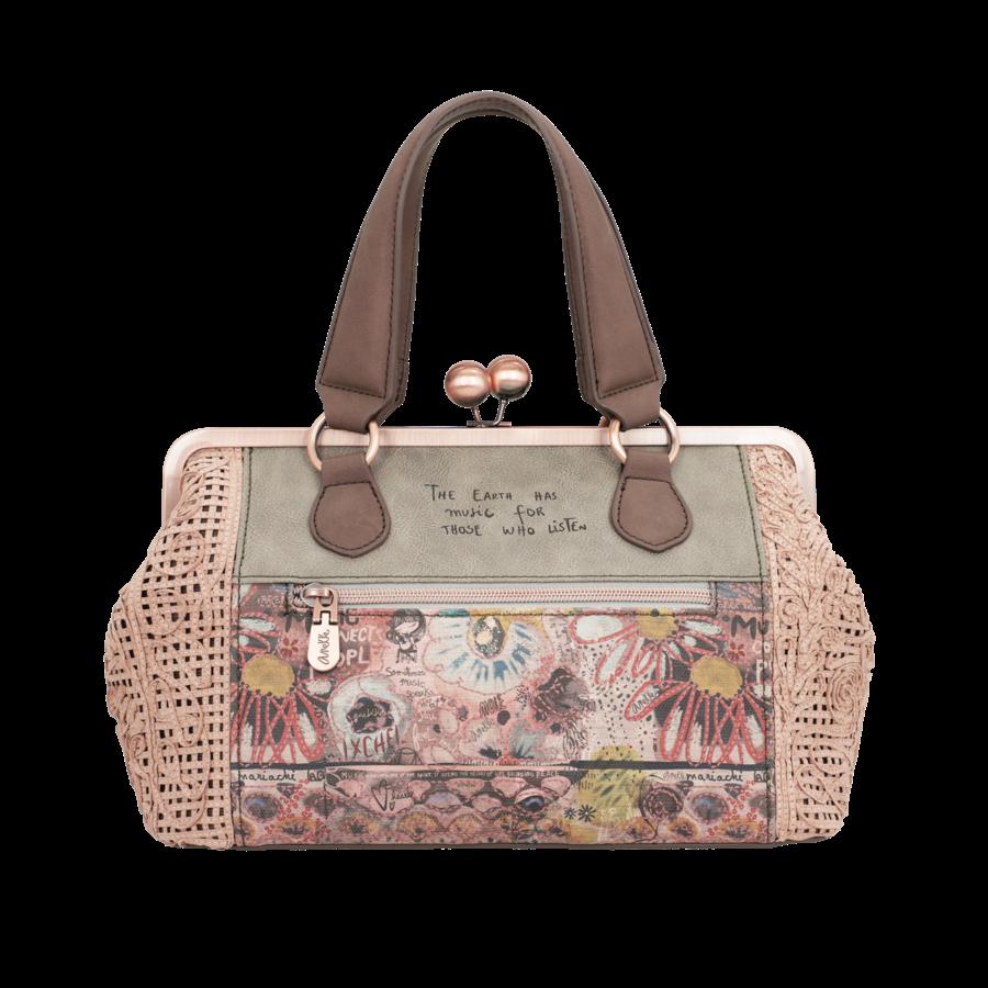 Beige/Rosé Handtasche *Ixchel Collection*-6