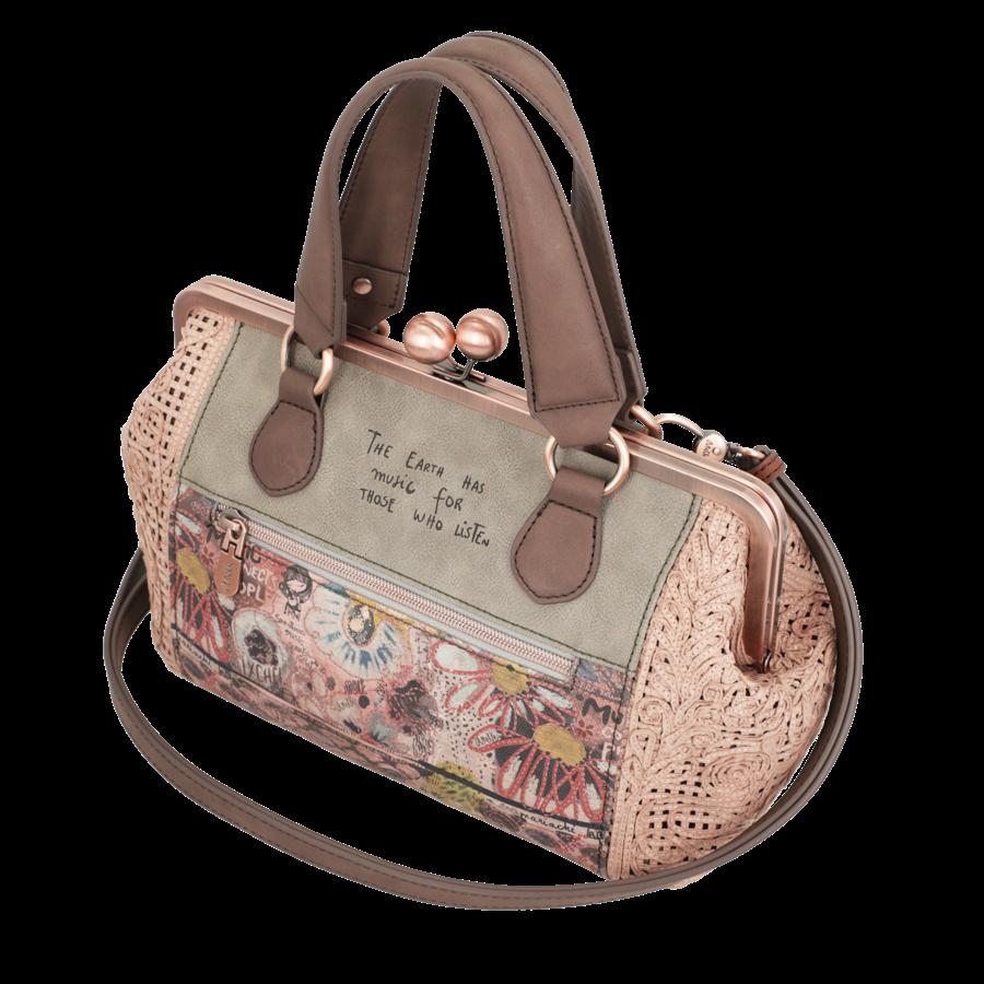 Beige/Rosé Handtasche *Ixchel Collection*-7
