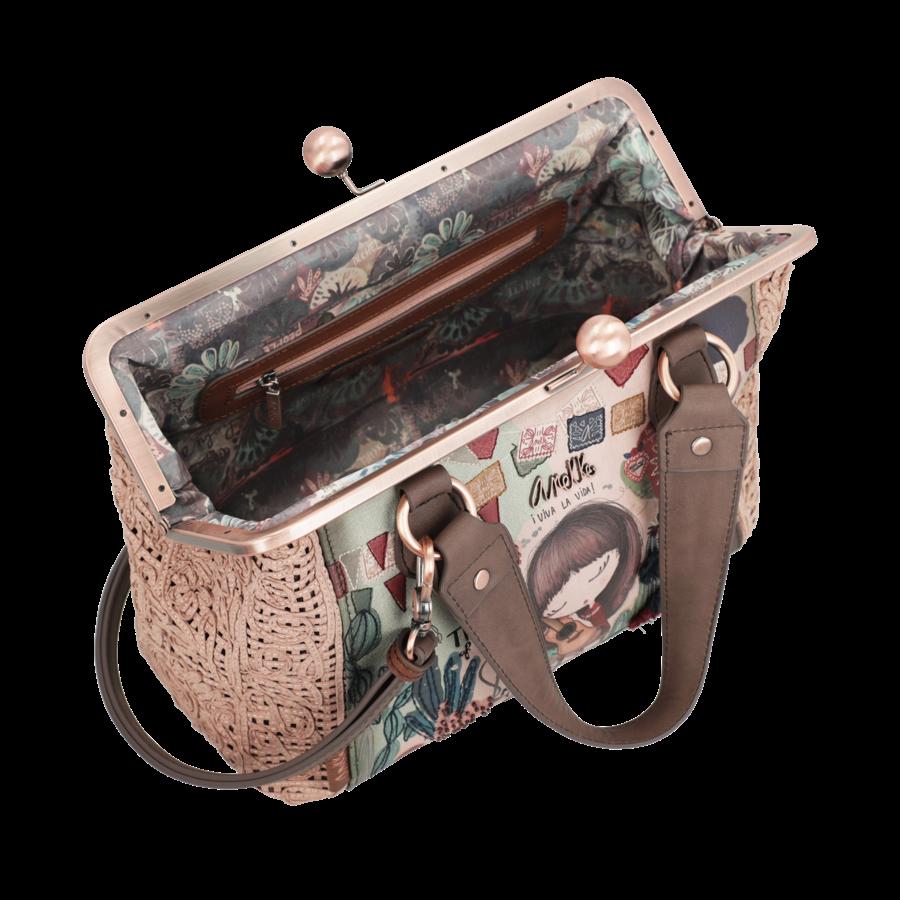 Beige/Rosé Handtasche *Ixchel Collection*-4