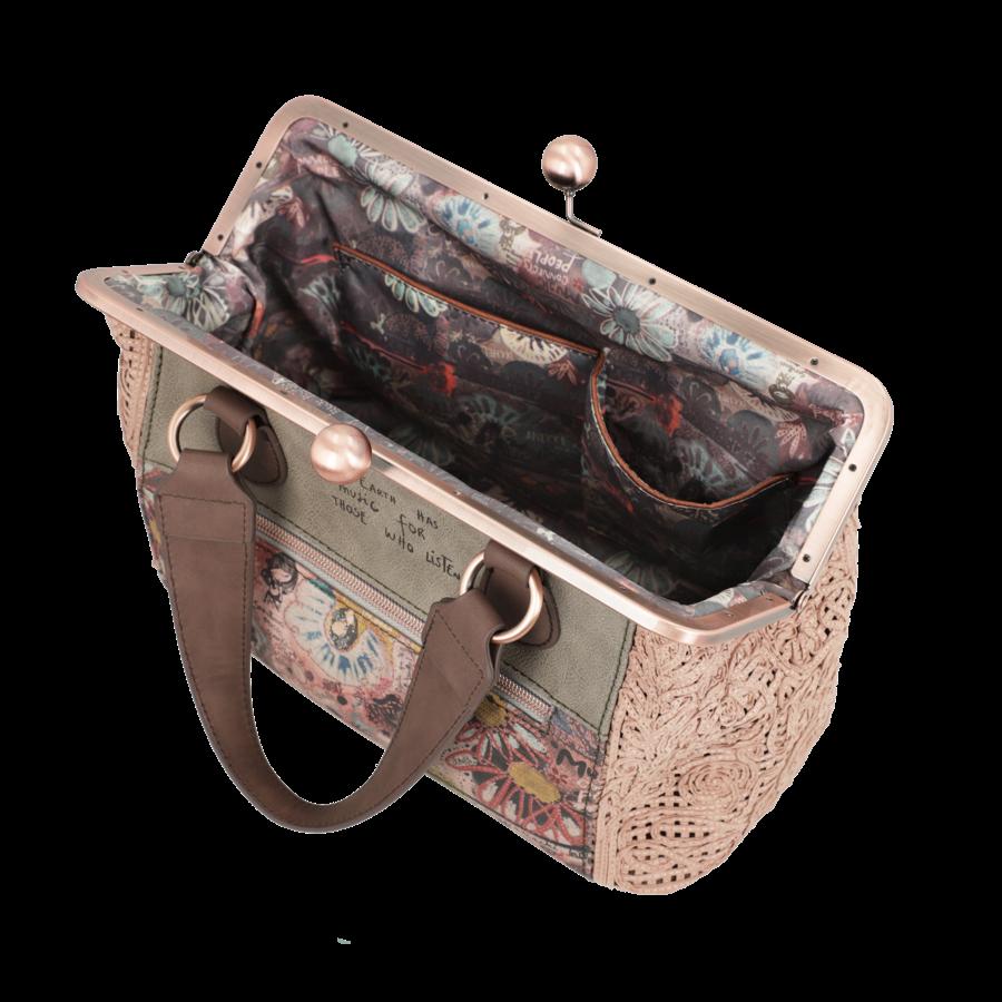 Beige/Rosé Handtasche *Ixchel Collection*-8