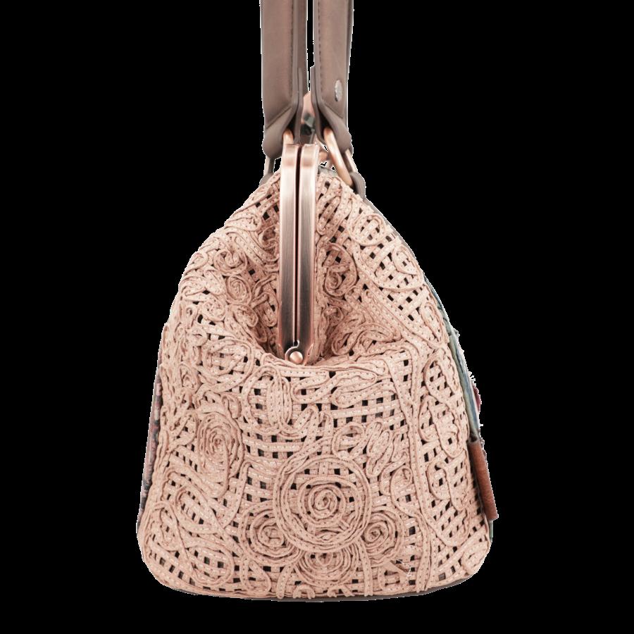 Beige/Rosé Handtasche *Ixchel Collection*-5