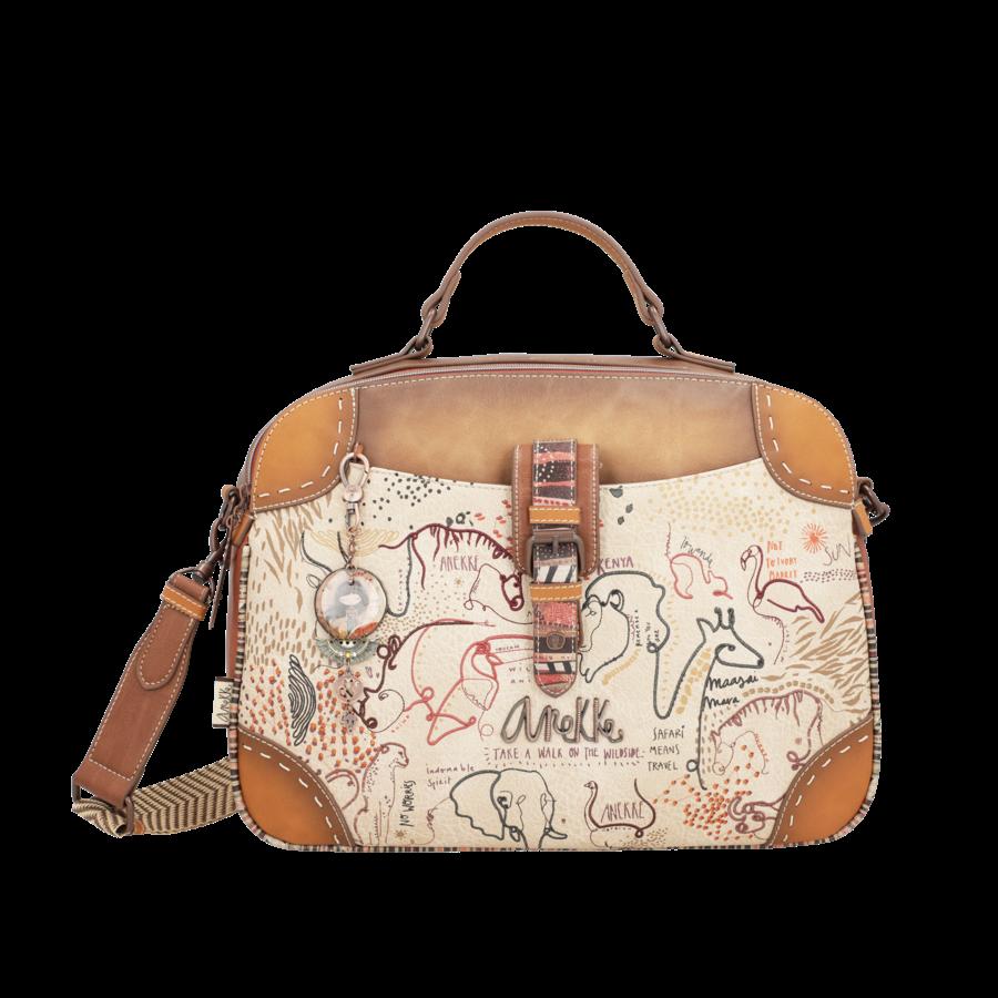 Braun/Multifarben Multi Tasche *Kenya Collection*-1