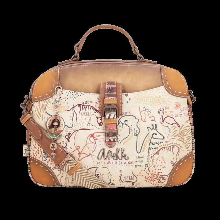 Braun/Multifarben Multi Tasche *Kenya Collection*-2
