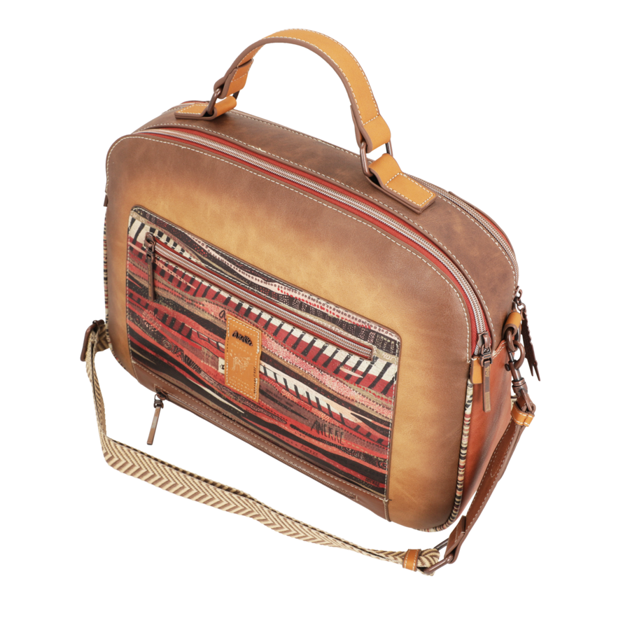 Braun/Multifarben Multi Tasche *Kenya Collection*-6