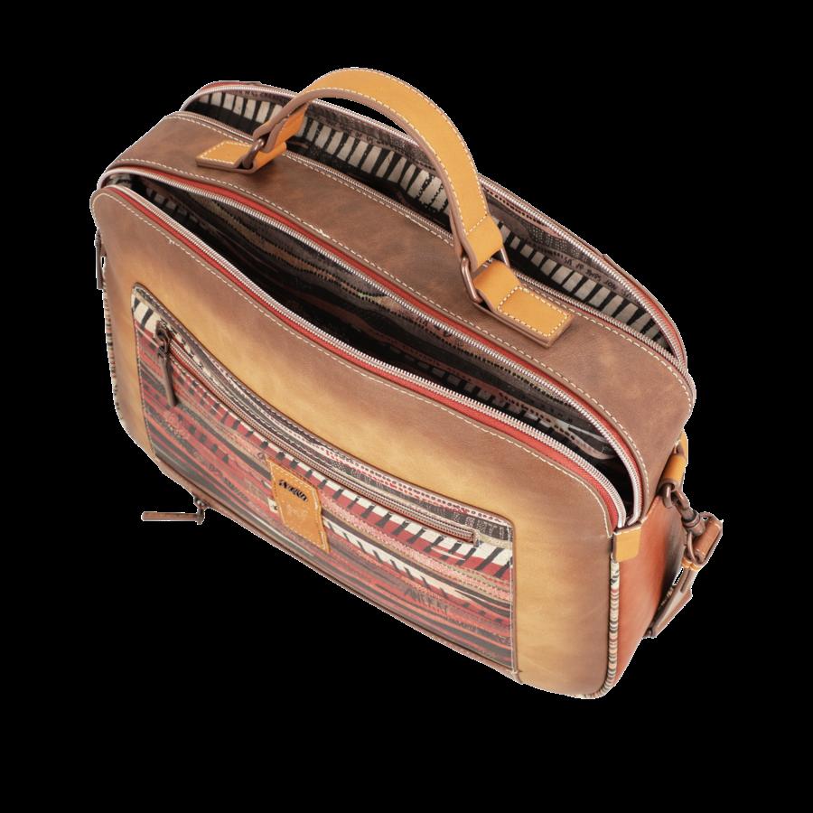 Braun/Multifarben Multi Tasche *Kenya Collection*-7