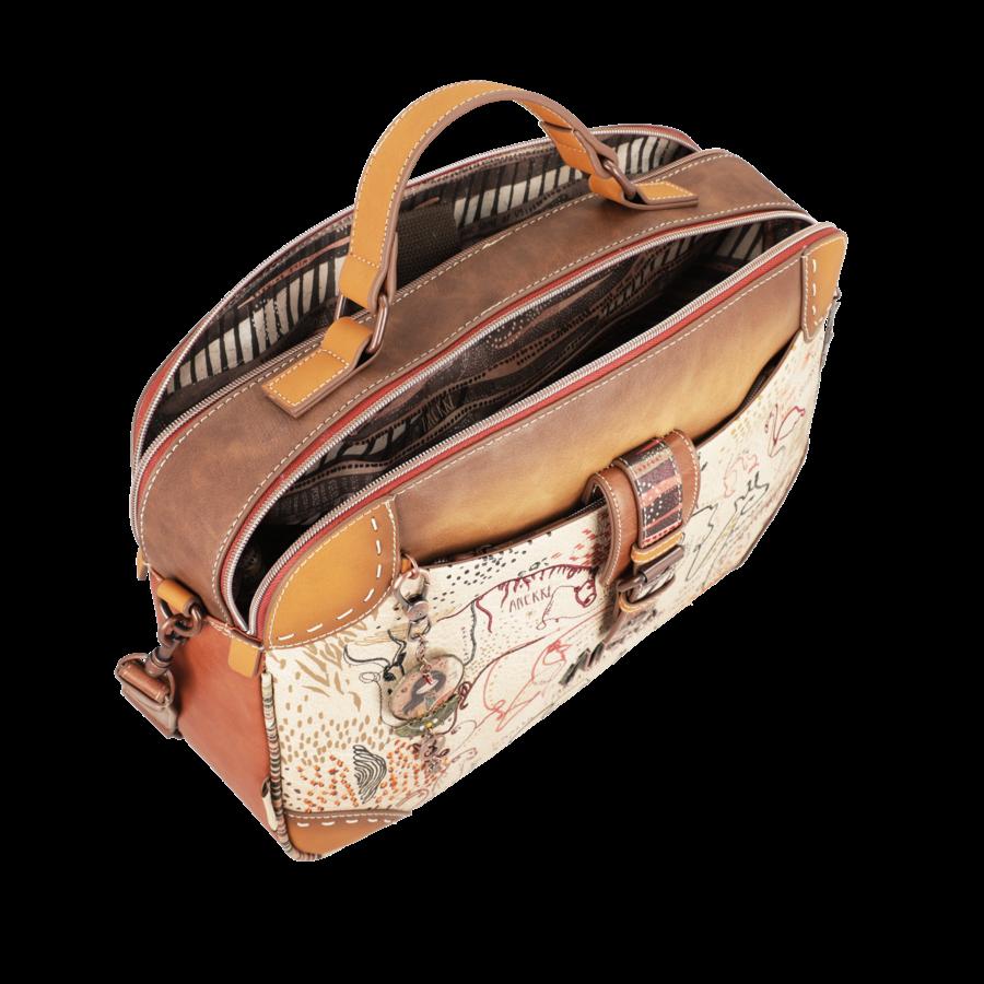 Braun/Multifarben Multi Tasche *Kenya Collection*-3