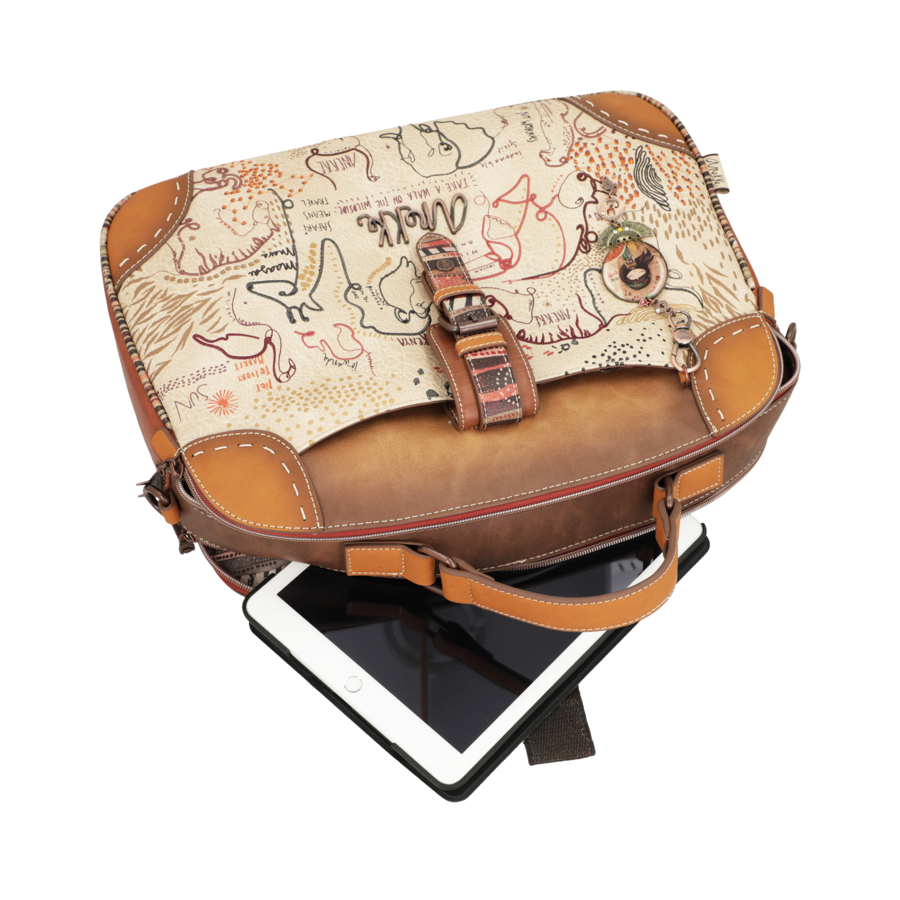 Braun/Multifarben Multi Tasche *Kenya Collection*-4