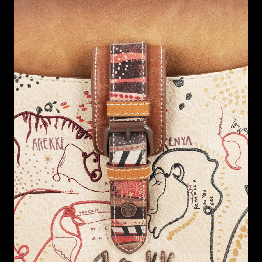 Braun/Multifarben Multi Tasche *Kenya Collection*-9