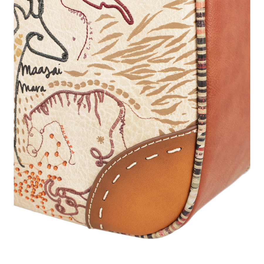 Braun/Multifarben Multi Tasche *Kenya Collection*-10