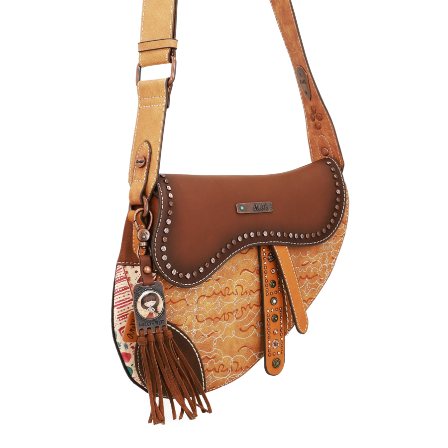 Braune Sattel Umhängetasche *Arizona Collection*-5