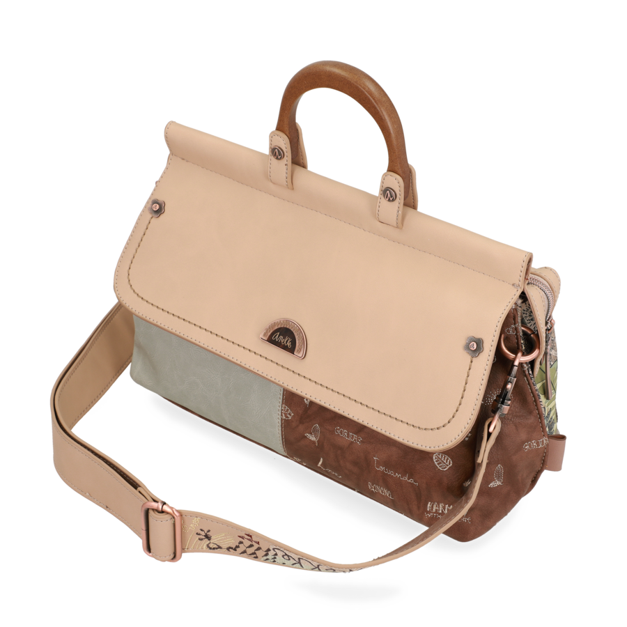 Beige Handtasche *Jungle Collection*-6