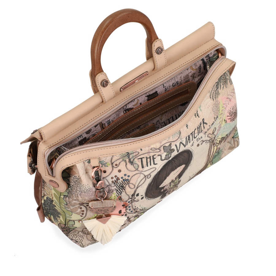 Beige Handtasche *Jungle Collection*-7