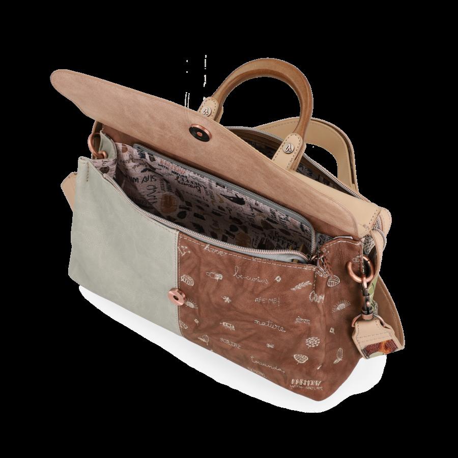 Beige Handtasche *Jungle Collection*-8
