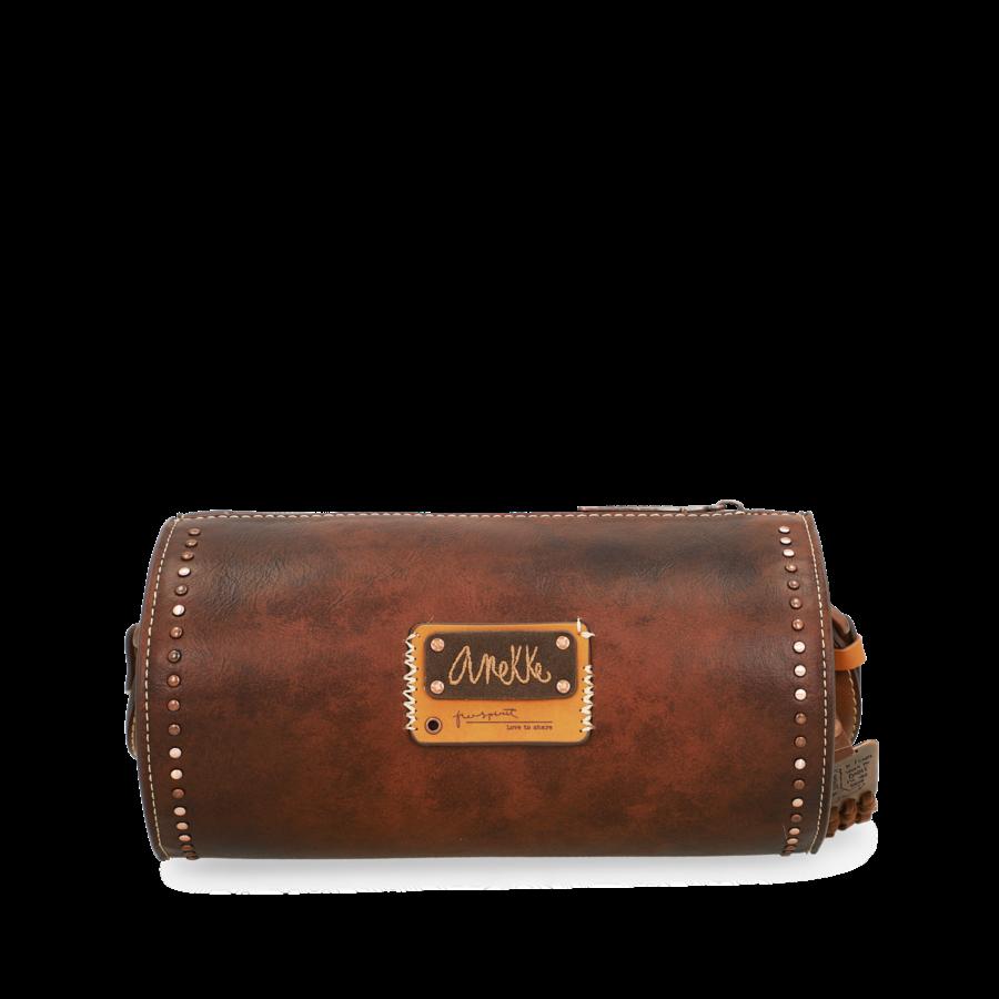 Braune Zylinder Umhängetasche *Arizona Collection*-8