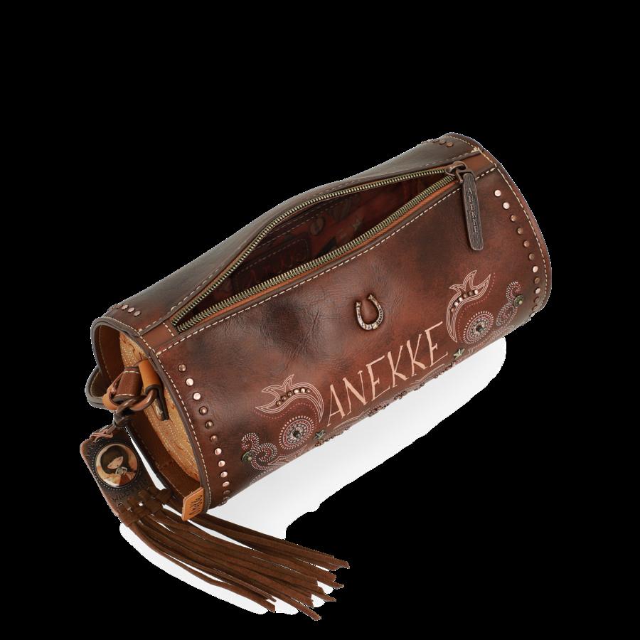 Braune Zylinder Umhängetasche *Arizona Collection*-5