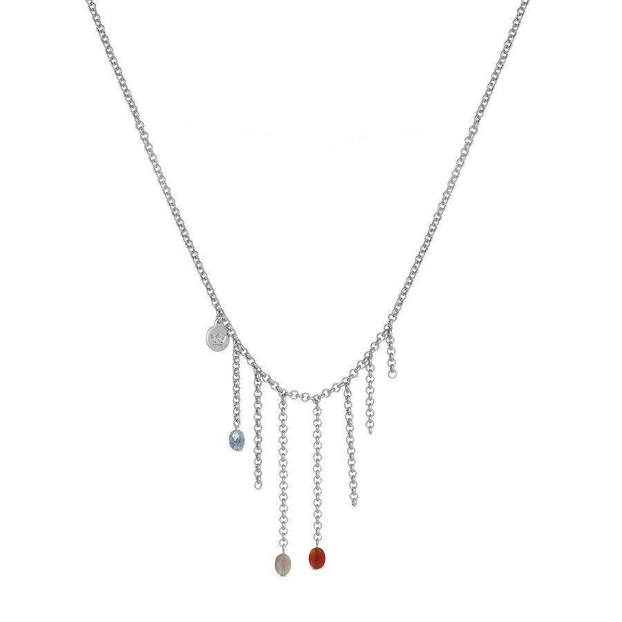 Multi Stone/Vergoldet Halskette Damen-2