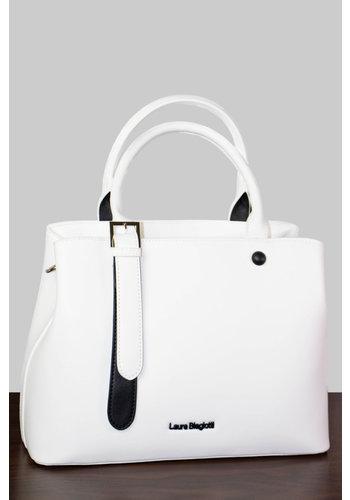Laura Biagiotti  Weiße PU Handtasche