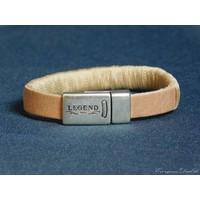 thumb-Hellbrauner Leder Armband Magnetverschluss-1