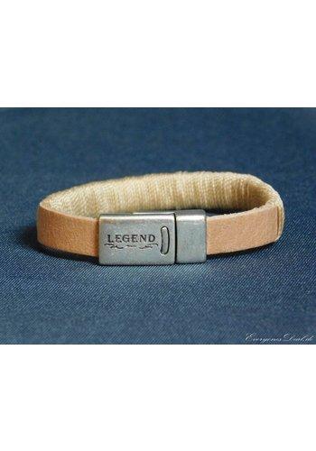Legend Hellbrauner Leder Armband