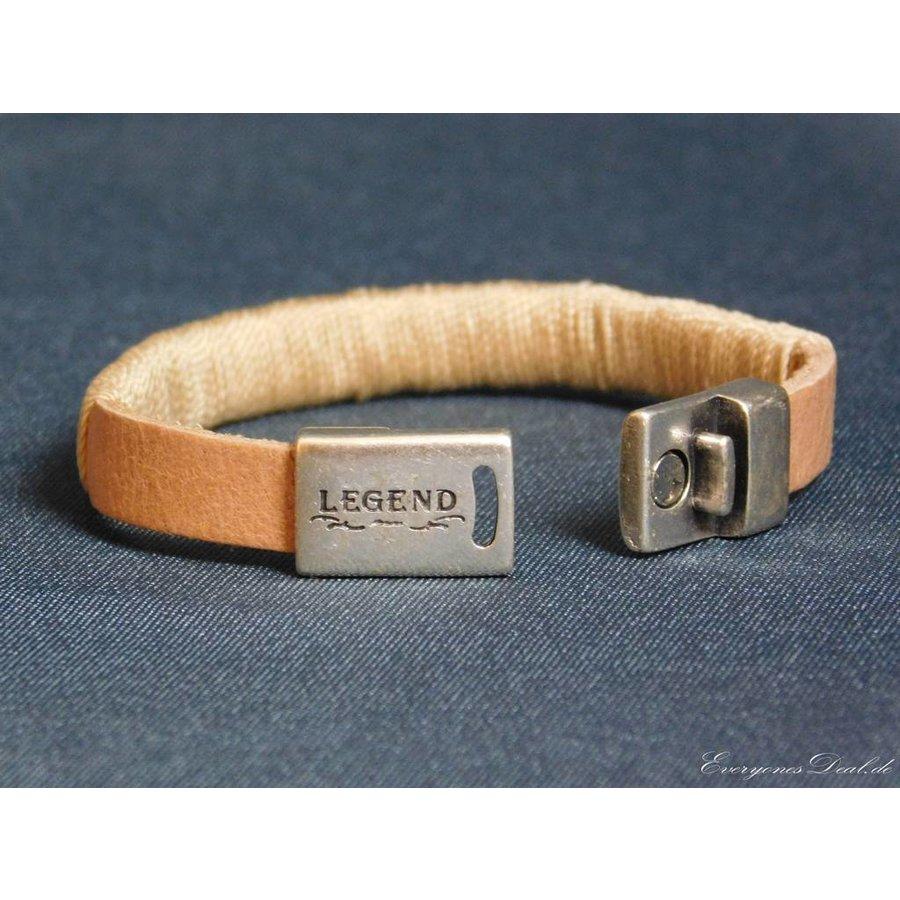 Hellbrauner Leder Armband Magnetverschluss-2