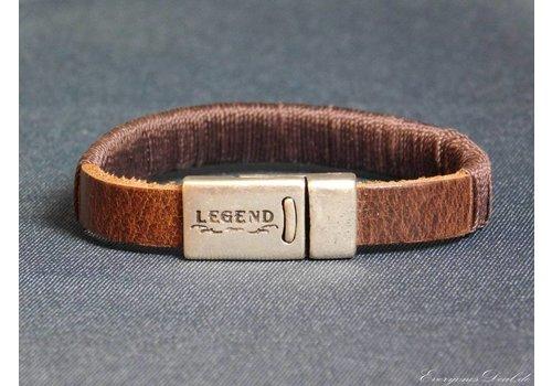 Legend Dunkelbrauner Leder Armband