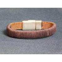 thumb-Dunkelbrauner Leder Armband Magnetverschluss-3