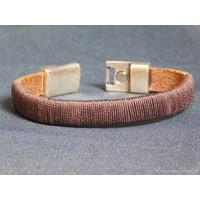thumb-Dunkelbrauner Leder Armband Magnetverschluss-4