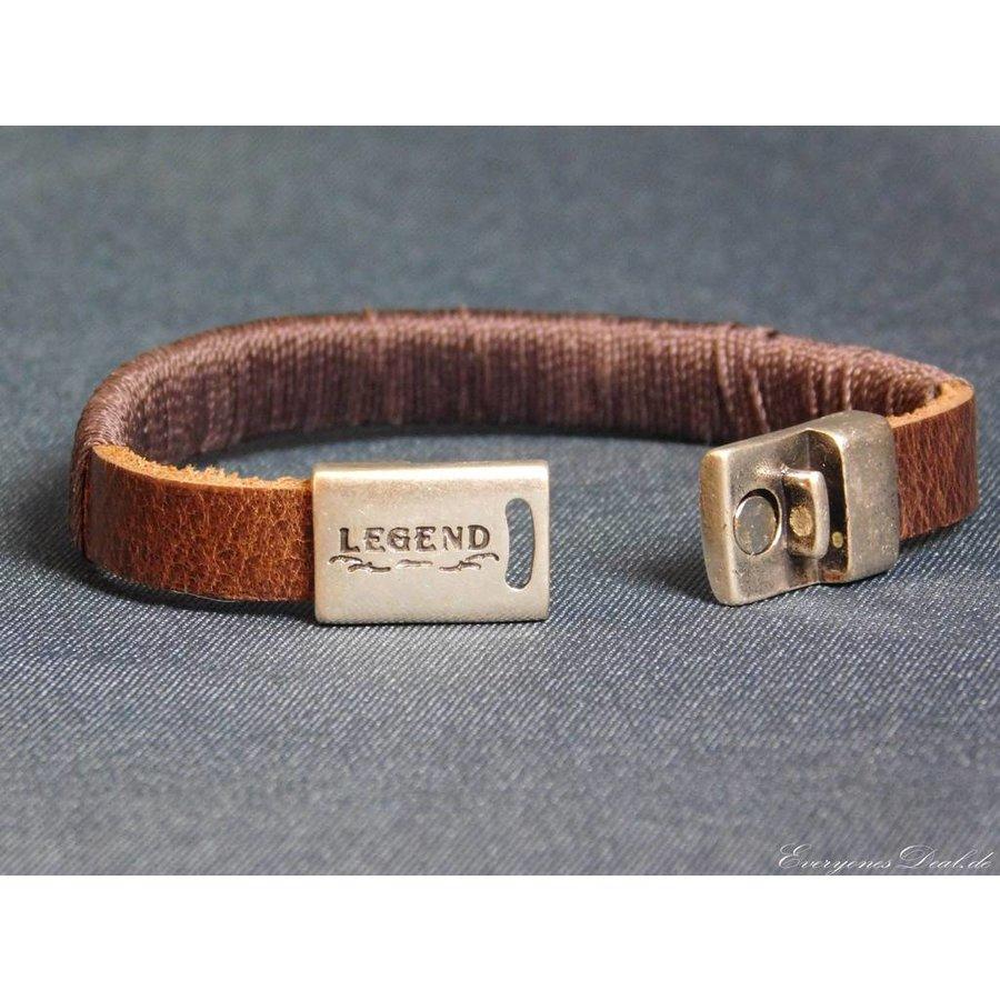 Dunkelbrauner Leder Armband Magnetverschluss-2