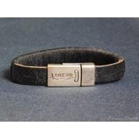 thumb-SchwarzeLeder Armband Magnetverschluss-1