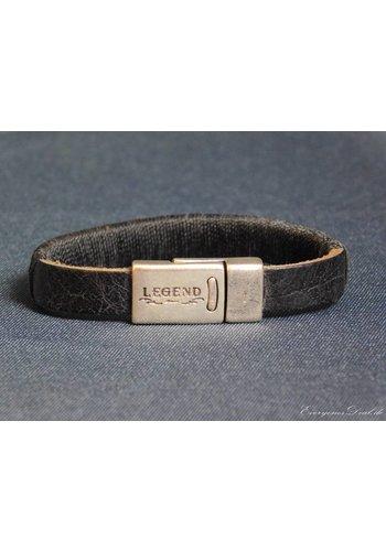 Legend SchwarzeLeder Armband