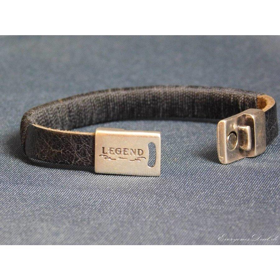 SchwarzeLeder Armband Magnetverschluss-2