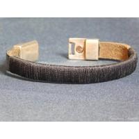 thumb-SchwarzeLeder Armband Magnetverschluss-4