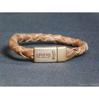 thumb-Braun Leder Geflochten Armband-1