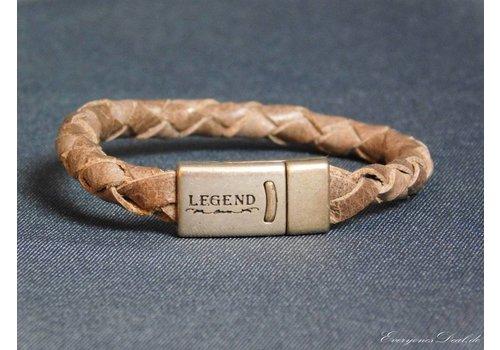 Legend Braun Leder Geflochten Armband