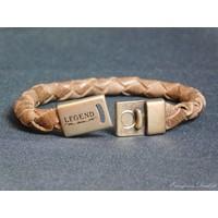 thumb-Braun Leder Geflochten Armband-2