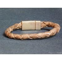 thumb-Braun Leder Geflochten Armband-3