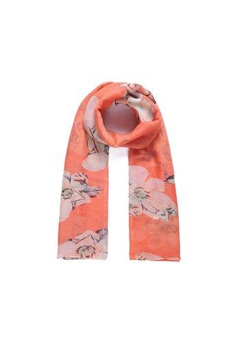 Intrigue Orange Langer Blumen Schal