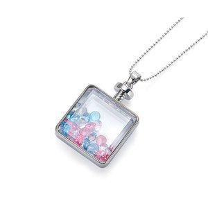 Intrigue  Mehrfarbig/Silberfarbig Halskette Anhänger mit Kristall Steinen